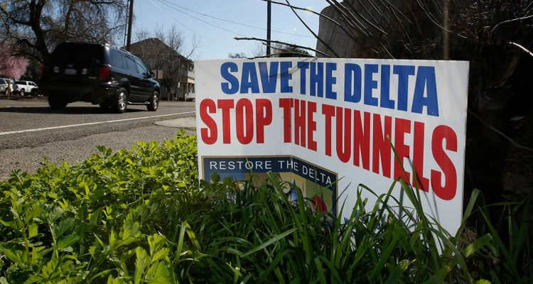 """Photo of a sign that says """"Save the Delta"""""""