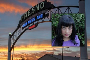 Photo combination of Marisol Baca and Fresno arch