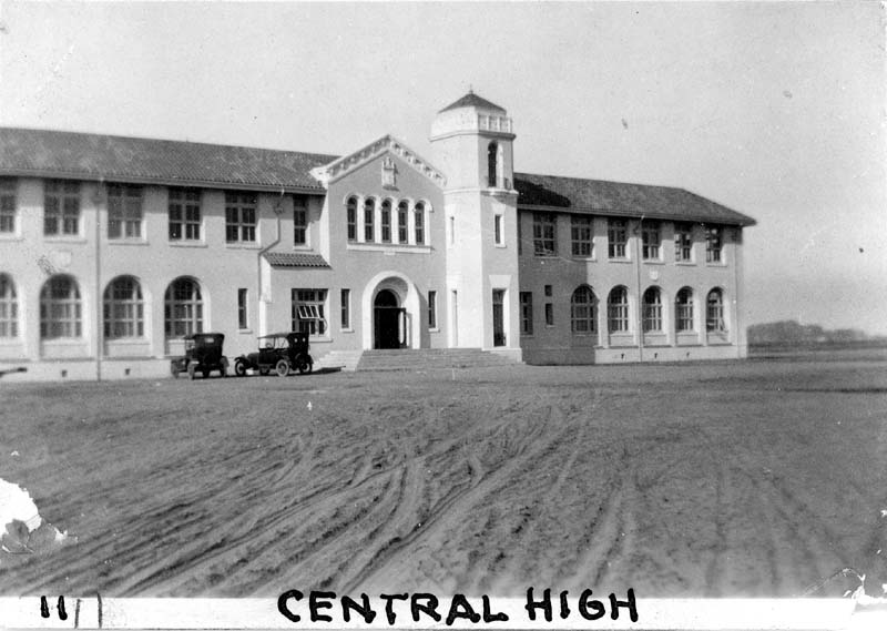 Historic photo of Central Union High School in Fresno, California