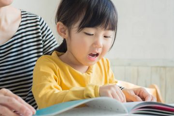 Photo of a girl reading