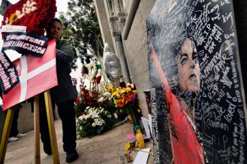 Photo of Michael Jackson memorial