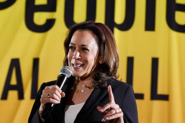 Photo of presidential candidate Sen. Kamala Harris