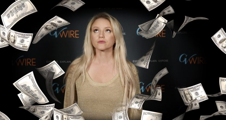 Composite of GV Wire's Jamie Ouverson and Hundred Dollar Bills