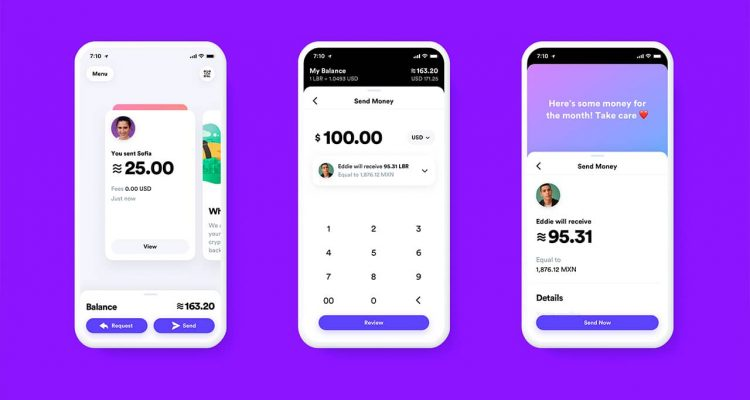 Photo of Calibra digital wallet app prototype