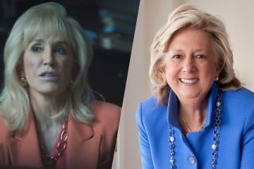 """Photo of Felicity Huffman as Linda Fairstein in Netflix's """"When They See Us"""" / Linda Fairstein File Photo"""