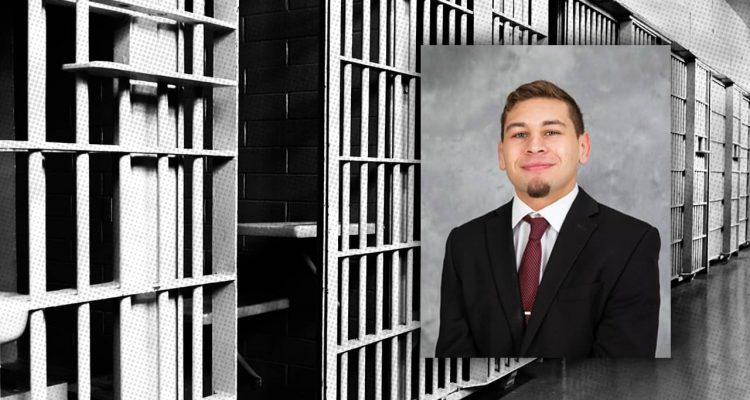 Composite of Dylan Martinez and jail bars