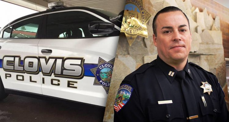 Composite photo of a Clovis Police car and new Police Chief Curt Fleming