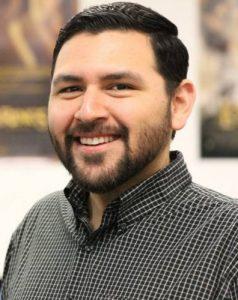 Portrait of Fresno Teachers Association President Manuel Bonilla