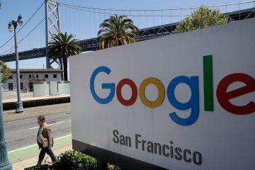 Photo of Google sign near the Bay Bridge in San Francisco, CA