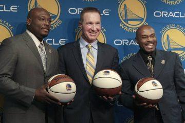 Photo of Mitch Richmond, Chris Mullin and Tim Hardaway