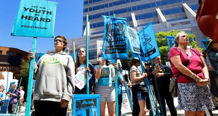 Photo of a group of youth environmental activists