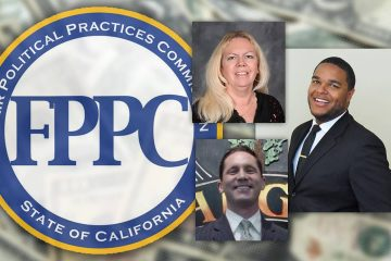Composite of FPPC logo and Terry Cox, Eric Payne, and Joshua Mitchell