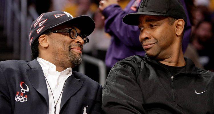 Photo of Spike Lee and Denzel Washington