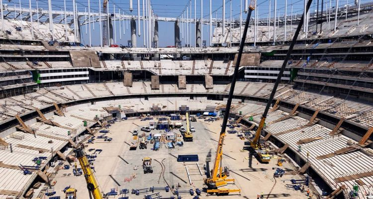 Photo of NFL stadium rising in Inglewood