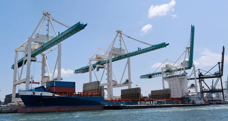 Photo of container ships