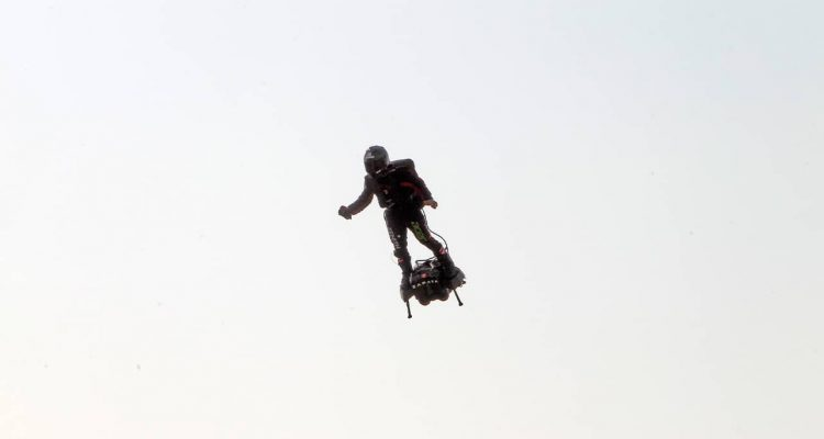 Photo of Franky Zapata taking air in Northern France