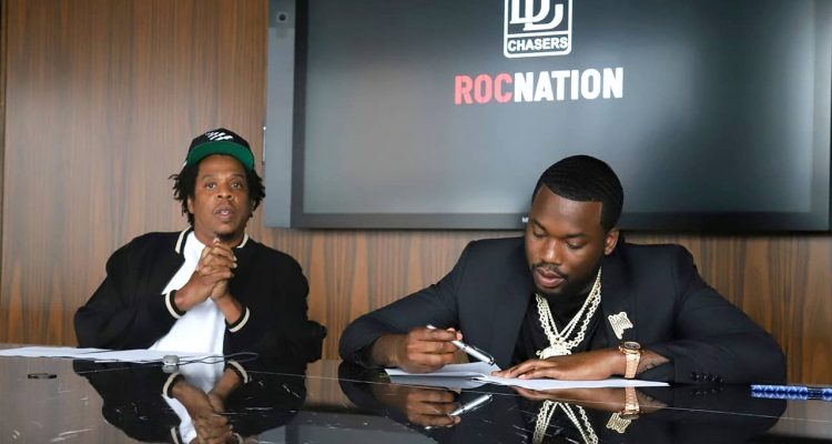 Photo of Jay-Z and Meek Mill