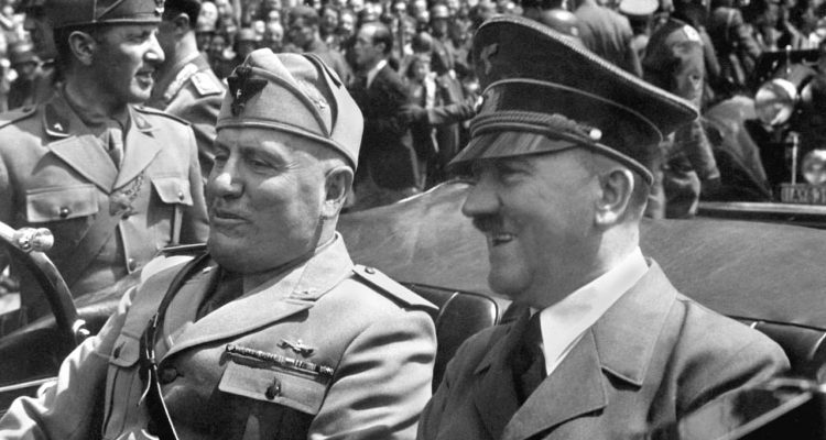 Photo of Benito Mussolini and Adolf Hitler