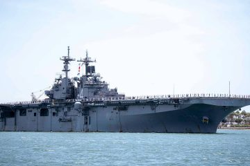 Photo of the amphibious assault ship USS Boxer (LHD 4)