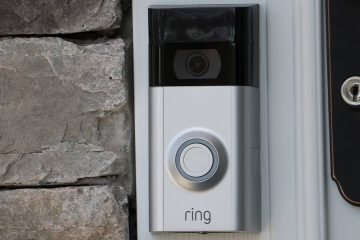Photo of a Ring doorbell cam