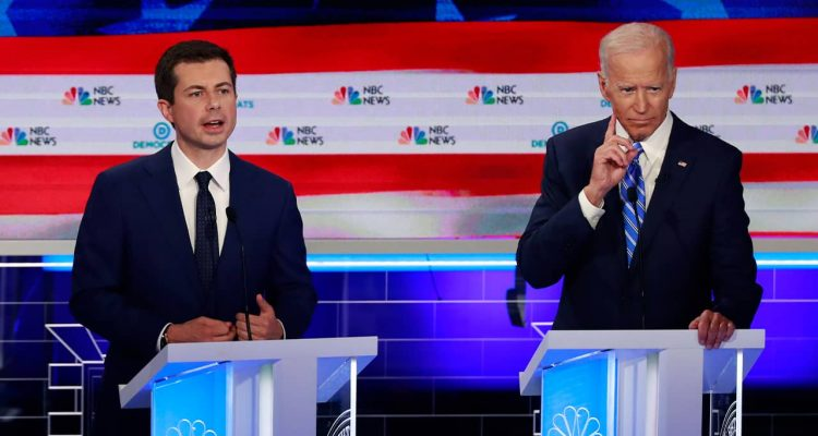 Photo of Joe Biden and Pete Buttigieg