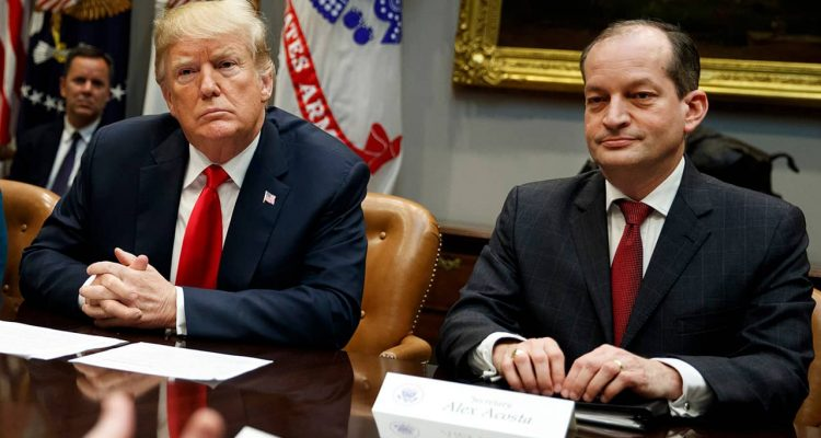 Photo of President Donald Trump and Alex Acosta