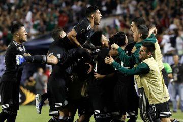 Photo of Mexico men's soccer team celebrating