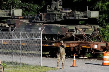 Photo of Abrams tanks