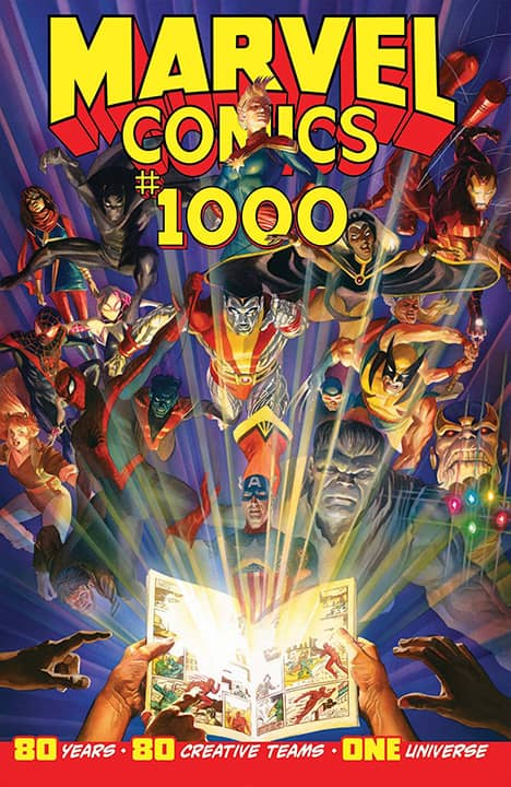 Photo of Marvel Comics #1000 cover