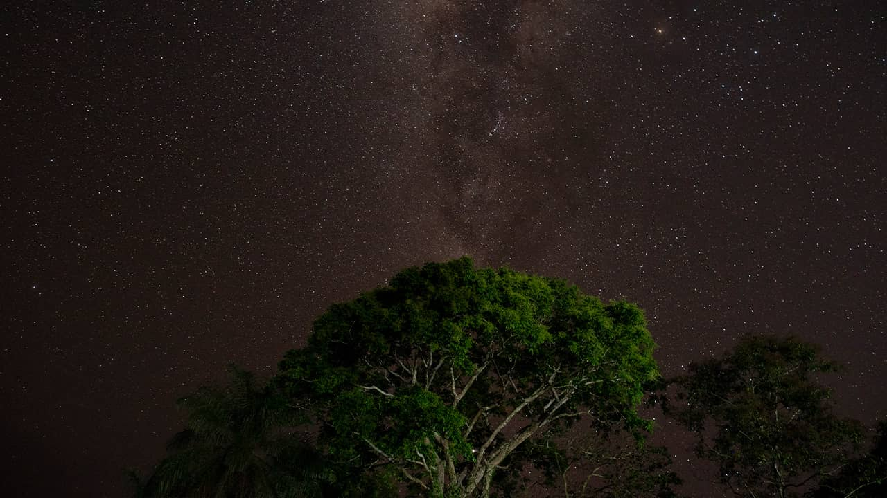 Photo of stars in the sky over Bau village