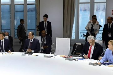 Photo of President Donald Trump's empty chair at the G7 Summit