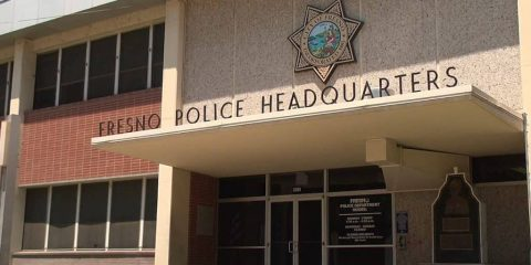 Photo of the front of Fresno Police Headquarters