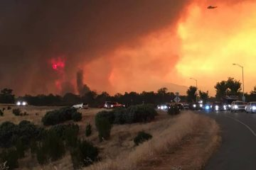 Photo of fire in Redding, Ca.