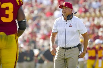 Photo of USC football coach Clay Helton