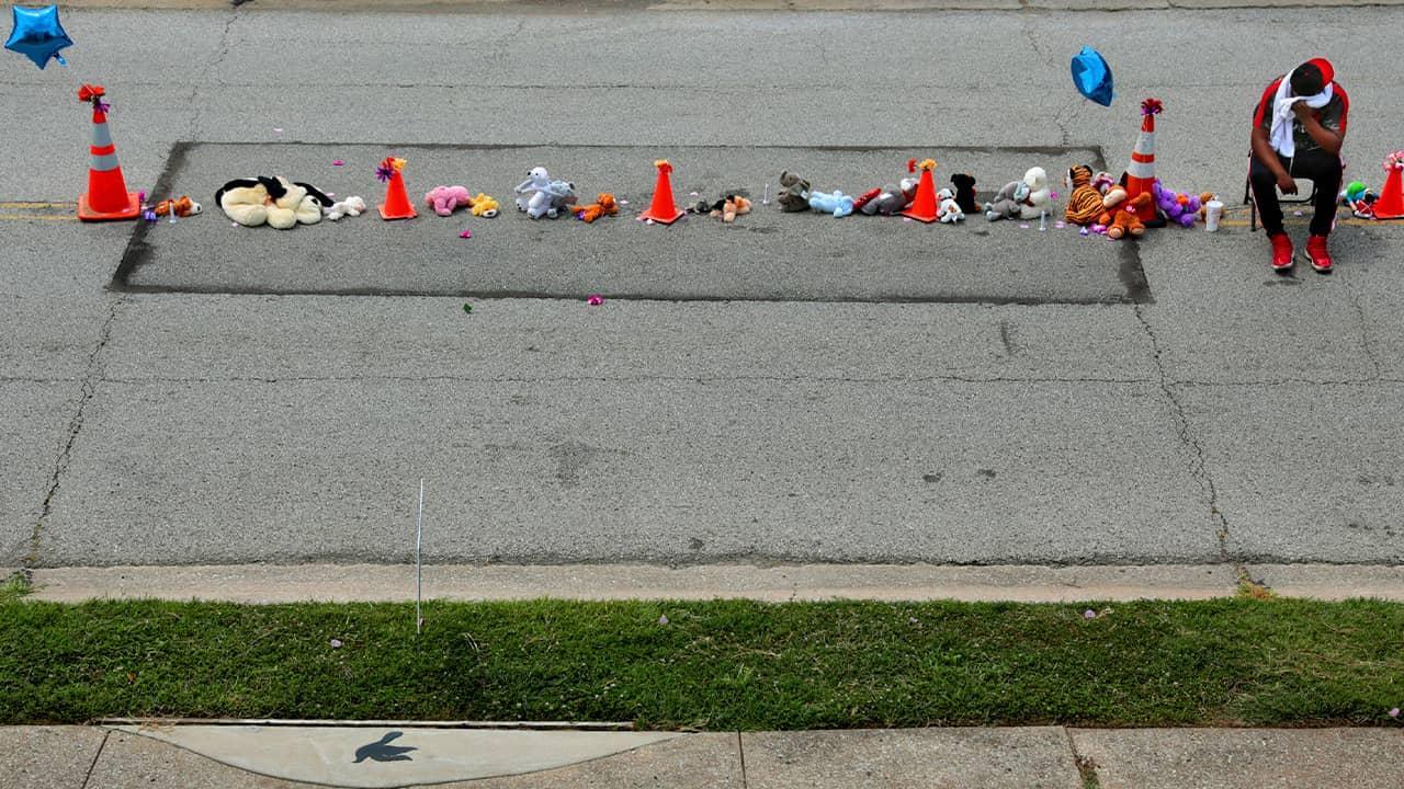 Photo of Michael Brown Jr. memorial