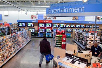 Photo of Walmart entertainment section