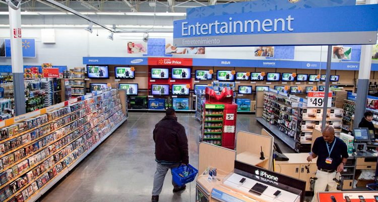 Photo of Walmart entertainment section