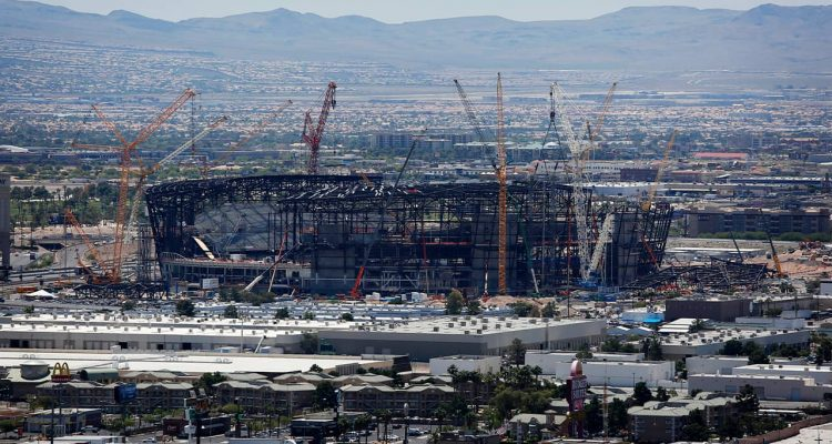 Photo of Raiders football stadium under construction in Las Vegas