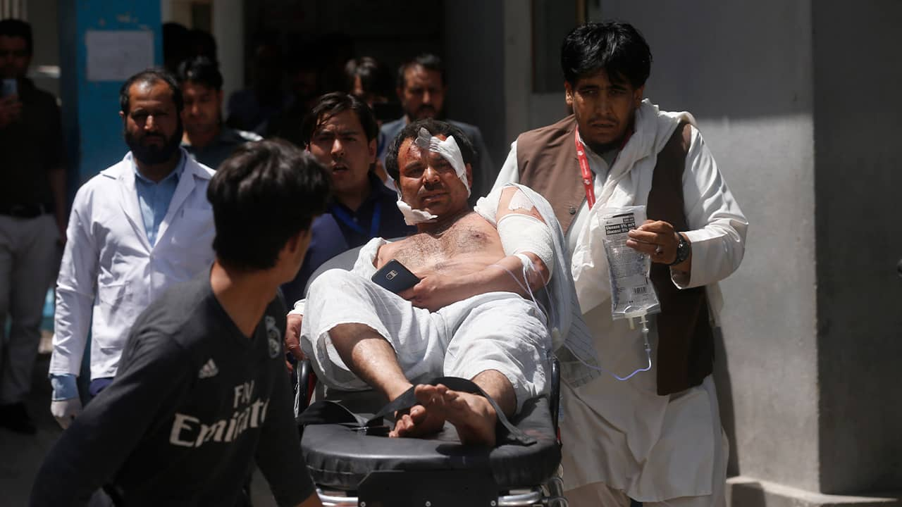 Photo of a wounded man in Kabul