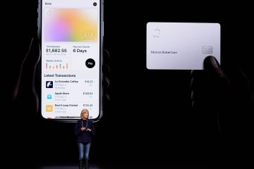 Photo of Jennifer Bailey speaking about the Apple Card
