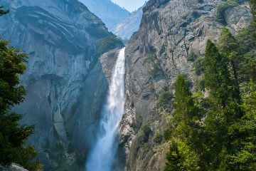Photo of Bridal Veil Falls in Yosemite National Park, Ca.