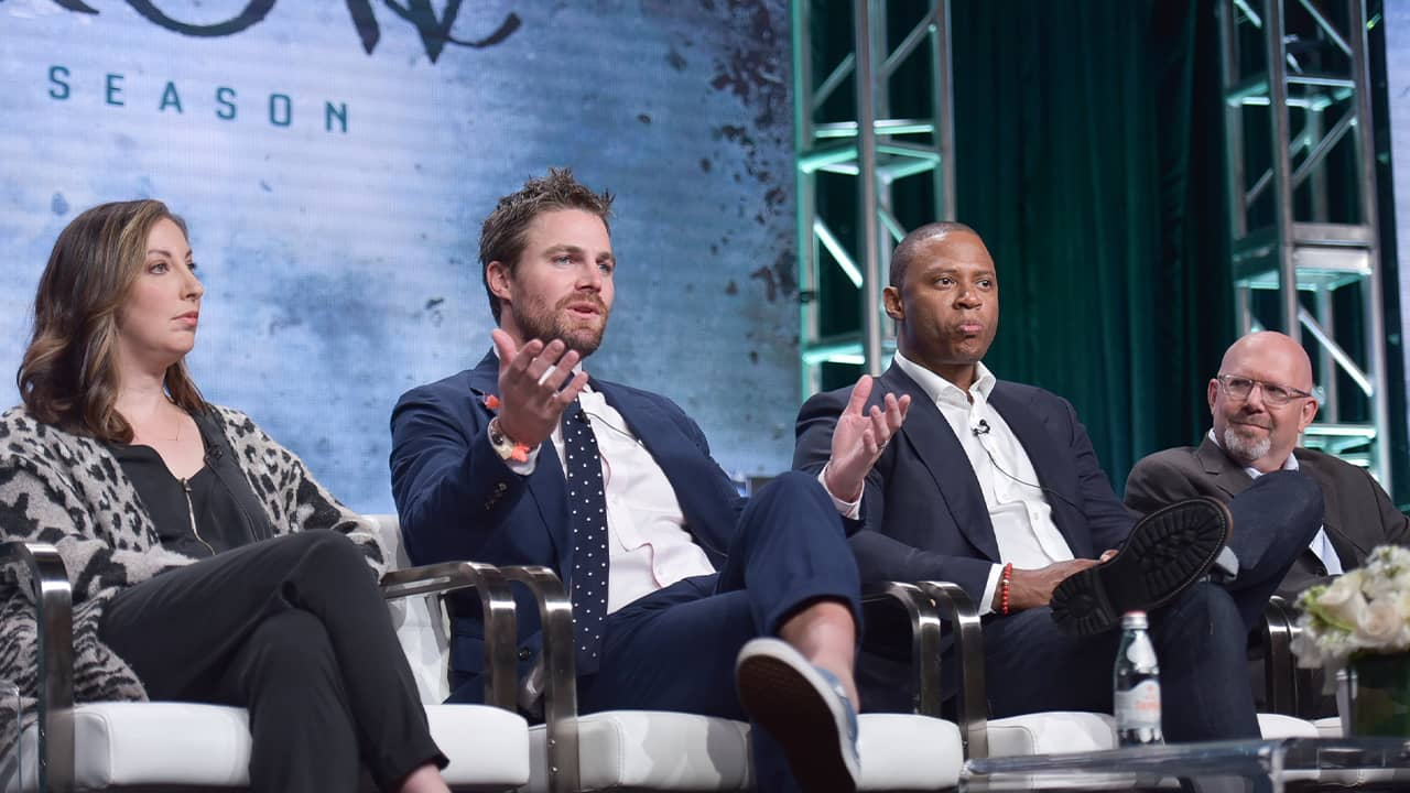 """Photo of the cast members of the CW's """"Arrow"""""""
