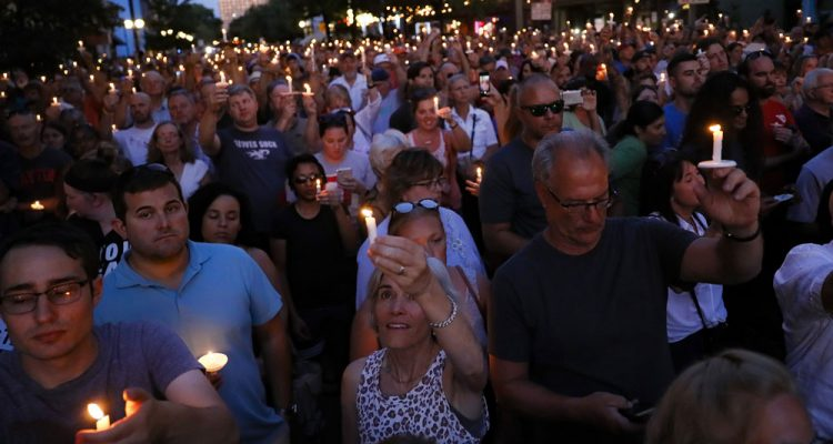 Dayton shooting candlelight vigil