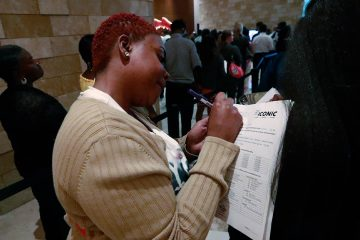Photo of woman filling out job application