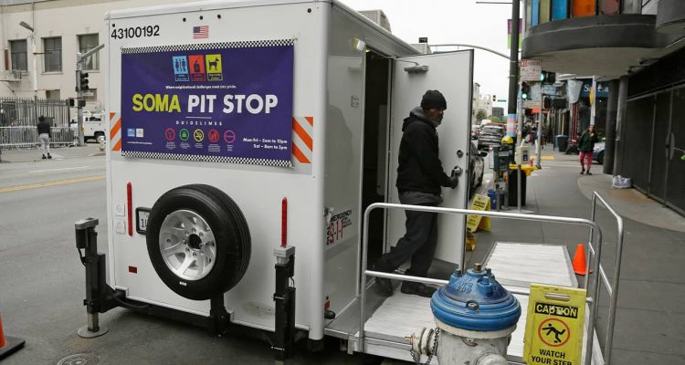 "Photo of ""Pit Stop"" public toilet in San Francisco"