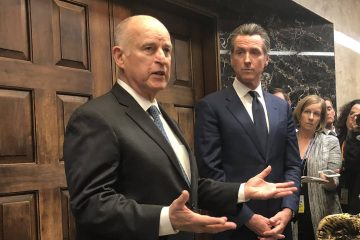 Photo of Gavin Newsom and Jerry Brown