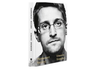 "Photo of Edward Snowden's book, ""Permanent Record"""