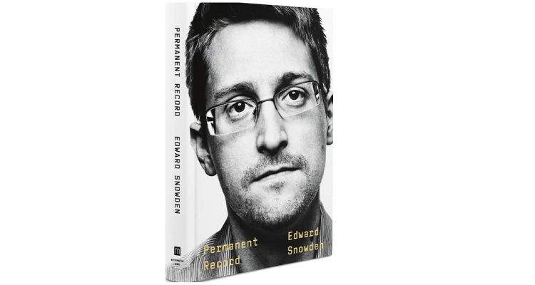 "Photo of Edward Snowden's book, ""Permanent Record"""