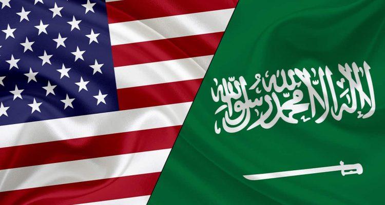 Photo of Saudi and American flag
