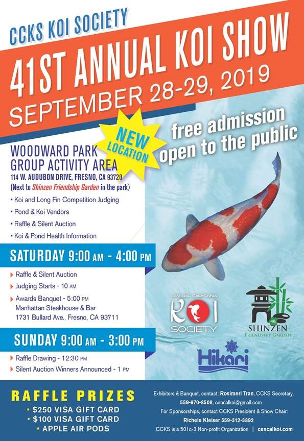 Photo of flyer about 41st annual koi show in Fresno, California